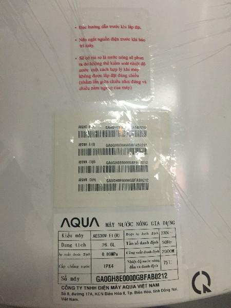 Bình nóng lạnh AQua AES30V-E1(H)