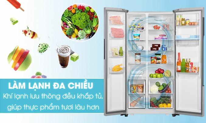 Tủ lạnh Aqua Inverter AQR-I565AS SW 557 lít, Inverter