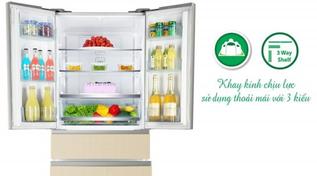 Tủ lạnh Aqua Inverter 455 lít AQR-IFG55D