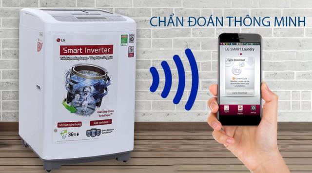 Máy giặt đời mới có tính năng chẩn đoán qua điện thoại