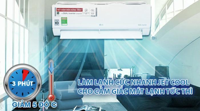 Điều hòa LG V13ENS 1 chiều, 1.5 HP, Inverter