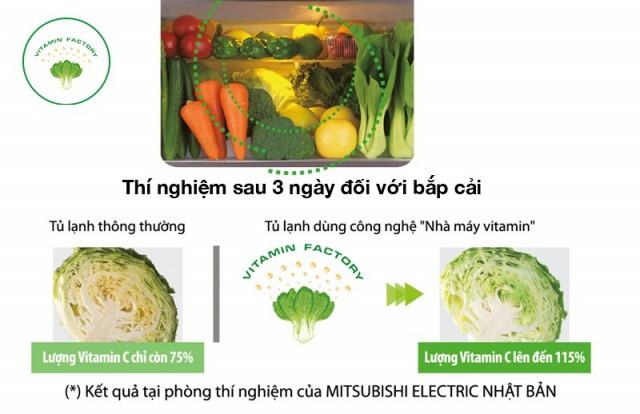 Tủ lạnh Mitsubishi Electric MR-WX53Y-BR-V 506 lít, Inverter