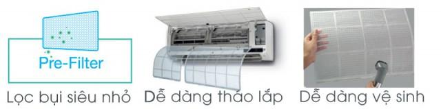 Điều hòa Toshiba RAS-H10S3KV-V 2 chiều, 1 HP, Inverter