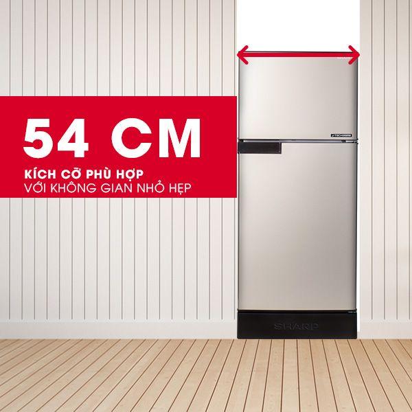 tủ lạnh Sharp 165 lít SJ-X176E-DS kích thước nhỏ gọn