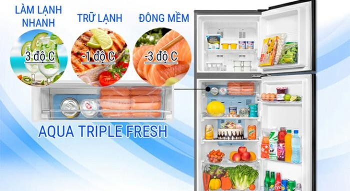 Khám phá tủ lạnh AQUA Inverter 281 lít AQR-I287BN