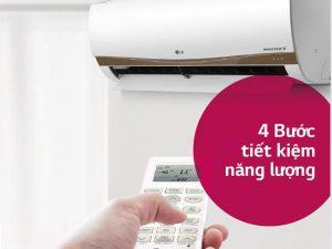 Chủ động dùng chế độ kiểm soát năng lượng trên điều hòa LG