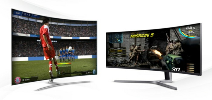 TV Samsung QLED màn hình cong làm mềm mại