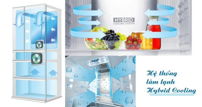 Hệ thống làm lạnh kép trên tủ lạnh Sharp - Hybrid Cooling