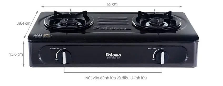 Bếp gas Paloma PA-V71EB tiện ích