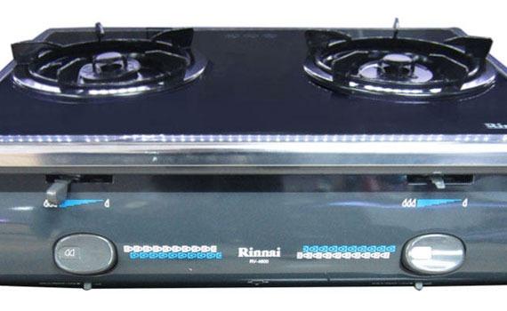 Bếp gas Rinnai RV-4600 (GL-T) thiết kế 2 bếp