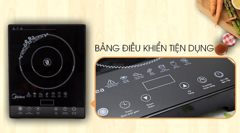 Bếp hồng ngoại Midea MIR-T2013DA công suất 2100W