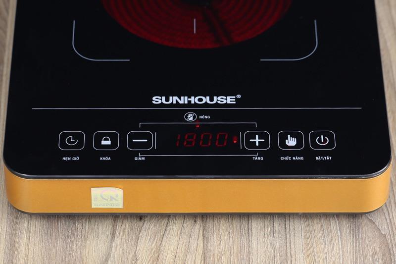 Bếp hồng ngoại Sunhouse SHD6015 điều khiển bằng cảm ứng