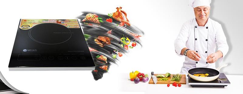 Bếp từ Elmich EL6346 2000W Bếp đơn nhỏ gọn, linh hoạt