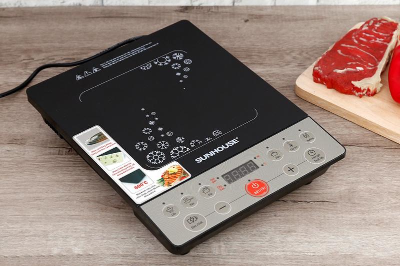 Bếp từcông suất 2000 W, nấu ăn nhanh chóng,mâm từ bằng đồng nguyên chất