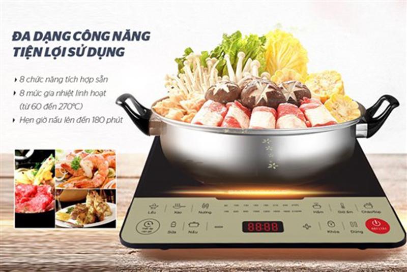 Bếp từ Sunhouse SHD6861 2000W Đa dạng công năng & tiện ích