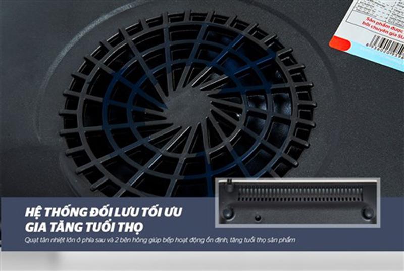 Bếp từ Sunhouse SHD6861 2000W Hệ thống quạt tản nhiệt đối lưu