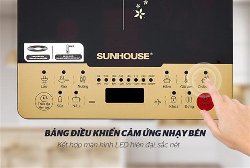 Bếp từ Sunhouse SHD6861 2000W Bảng điều khiển dễ sử dụng