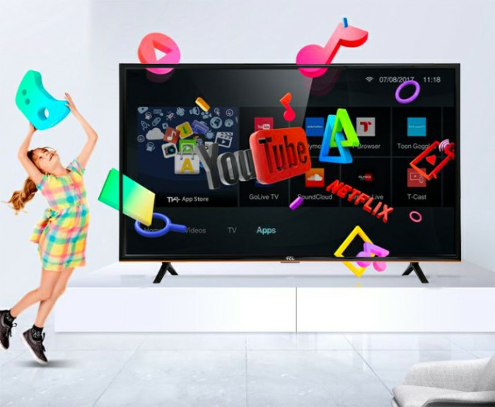 Tivi TCL L43S62T được trang bị sẵn đầu thu DVB-T2
