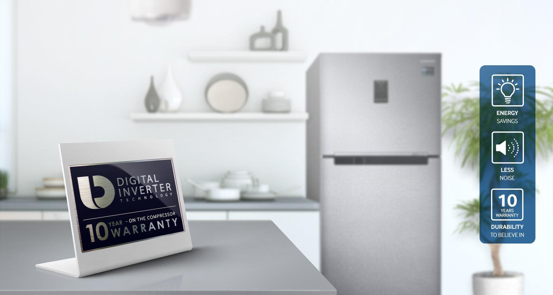Tủ lạnh Samsung Inverter 380 lít RT38K5982DX/SV tiets kiệm năng lượng