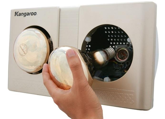 Đèn sưởi Kangaroo KG247 dễ tháo lắp