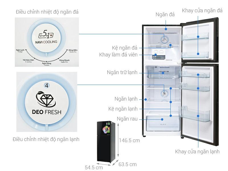 Tủ lạnh Aqua Inveter 235 lít AQR-IG248EN