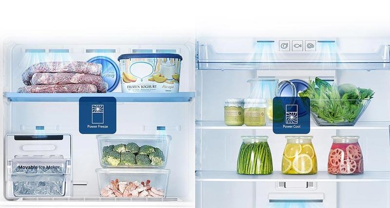 Tủ lạnh Samsung Inverter 360 lít RT35K5982BS/SV làm lạnh nhanh