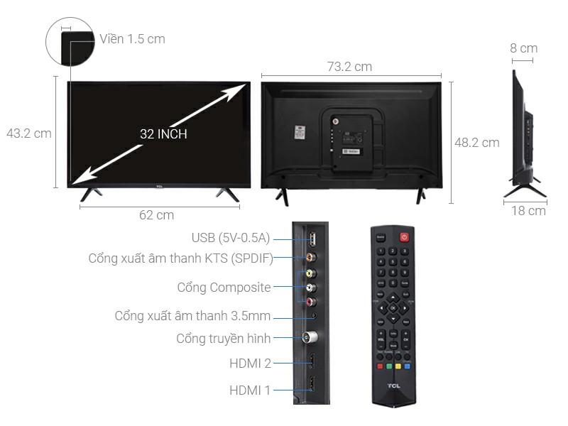 Tivi TCL LED L32D3000 32 inch