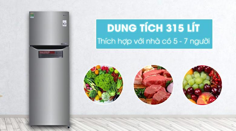 Tủ lạnh LG Inverter 315 lít GN-L315PS