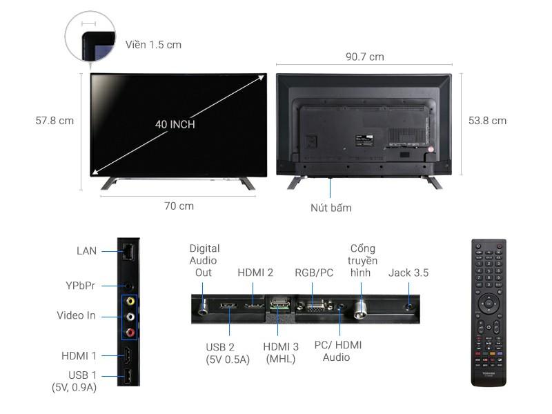 Tivi Toshiba 40L5650