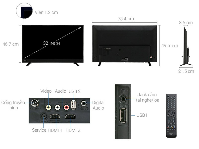 Tivi Toshiba 32L3750 32 inch