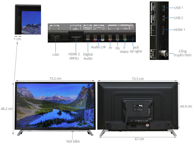 Tivi Toshiba 32 inch 32L5650