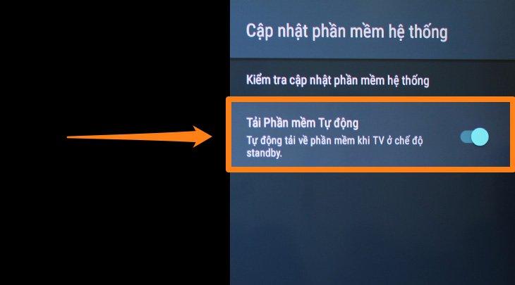 Cách cập nhật phần mềm tự động trên tivi sony 5