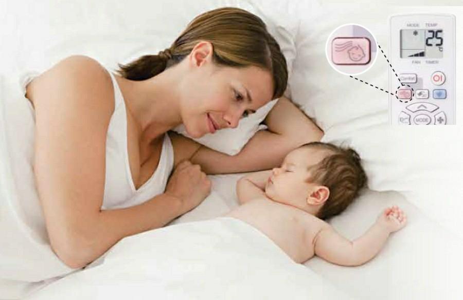 Những lưu ý khi dùng điều hòa cho bé