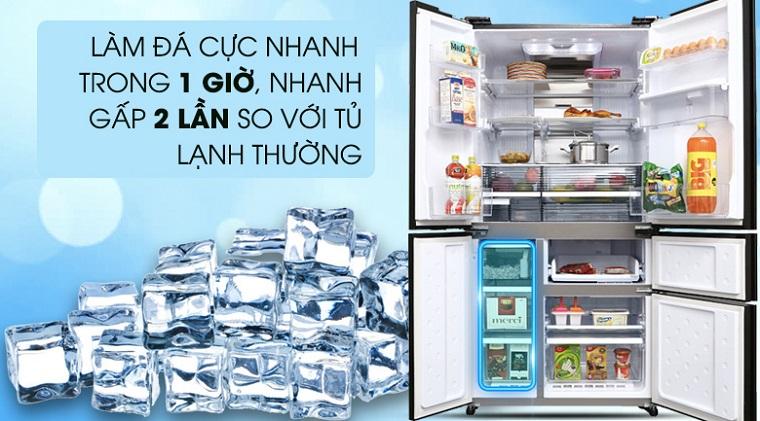 Cách sử dụng chức năng làm đá tự động trên tủ lạnh Sharp 1