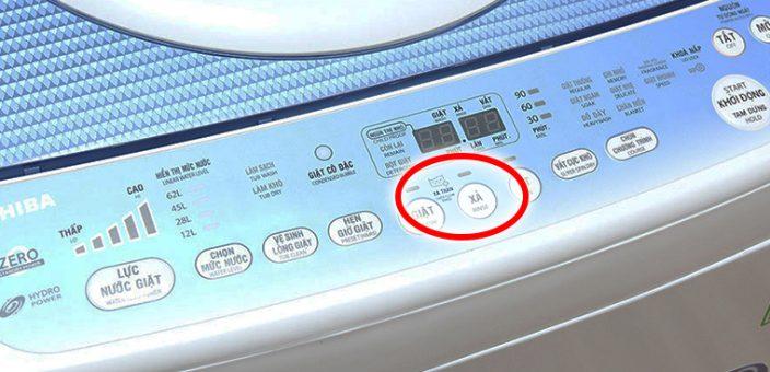 chế độ xả tràn trên máy giặt