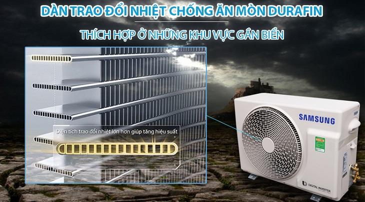 Hệ thống tản nhiệt chống ăn mòn Durafin của điều hòa Samsung