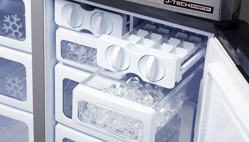 Chức năng làm đá nhanh trên tủ lạnh LG, Hitachi và Samsung