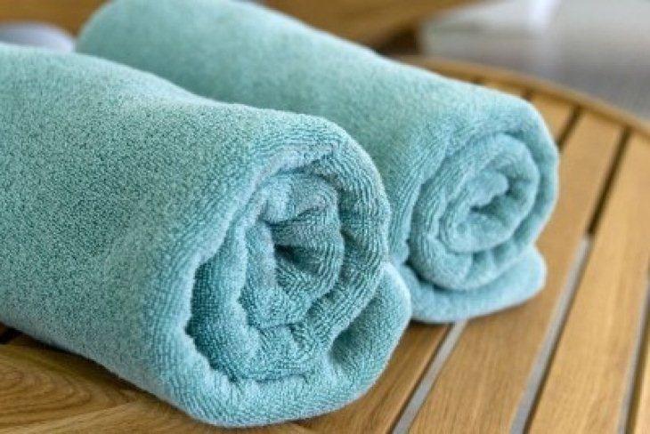 Sử dụng khăn bông