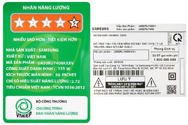 Smart Tivi Samsung UA50RU7400 4K 50 inch