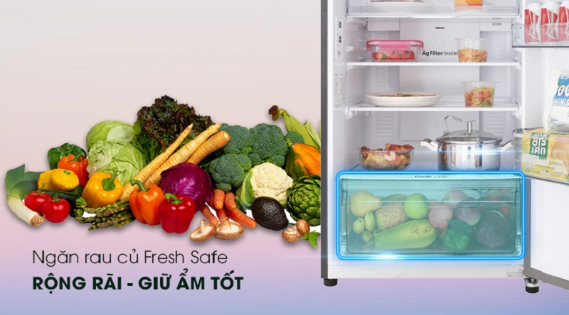 Tủ lạnh Panasonic Inverter 326 lít NR-BL359PKVN ngăn giữ ẩm