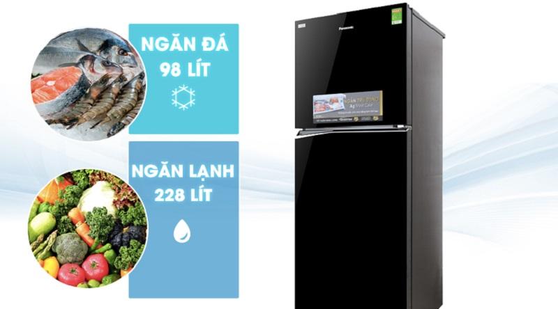 Tủ lạnh Panasonic Inverter 326 lít NR-BL359PKVN ngăn trữ lớn