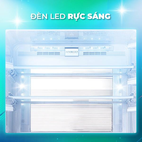 Tủ lạnh Sharp Inverter 605 lít SJ-FX688VG-BK đèn led rực sáng
