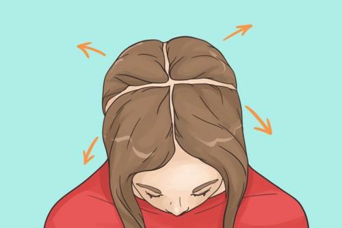 Không chia tóc trước khi sấy