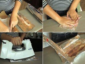 Nướng thịt hun khói bằng bàn là