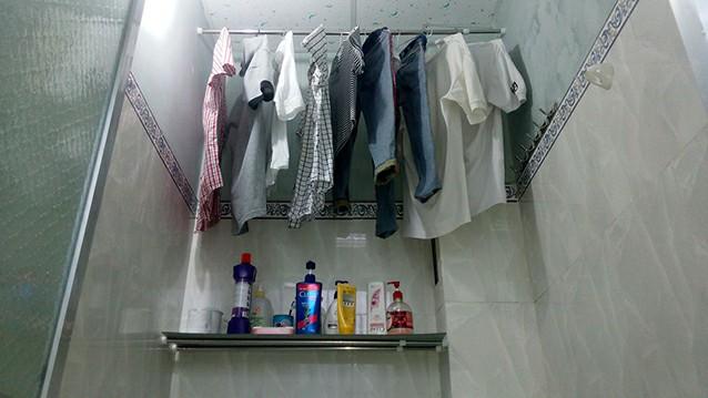 Phơi sơ trong nhà tắm