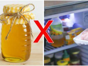 bảo quản mật ong trong tủ lạnh
