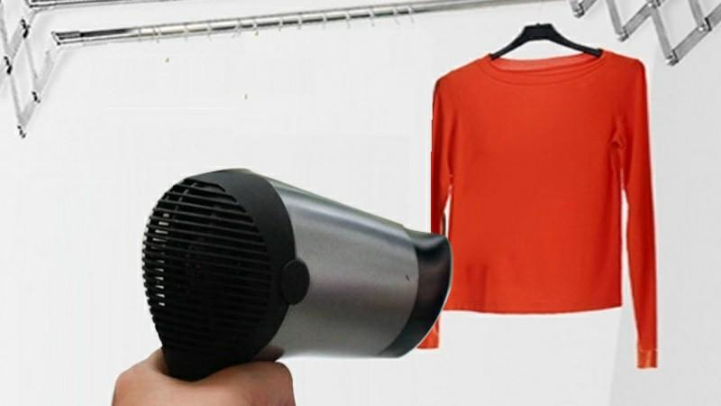 máy sấy tóc loại bỏ ẩm mốc quần áo