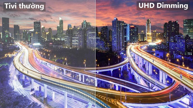 Độ tương phản cải tiến với UHD Dimming