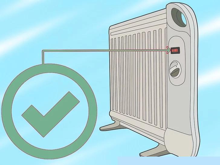 Chọn máy sưởi cầm tay có công tắc an toàn trên đầu và bảo vệ quá nhiệt