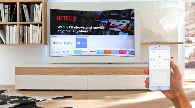 Dùng điện thoại, máy tính bảng để điều khiển tivi qua ứng dụng Samsung SmartThings
